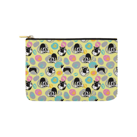 Boston Terrier Pattern Carry-All Pouch 9.5x6 - TeeAmazing
