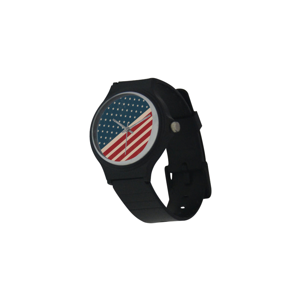 4th July V2 Unisex Round Plastic Watch - TeeAmazing