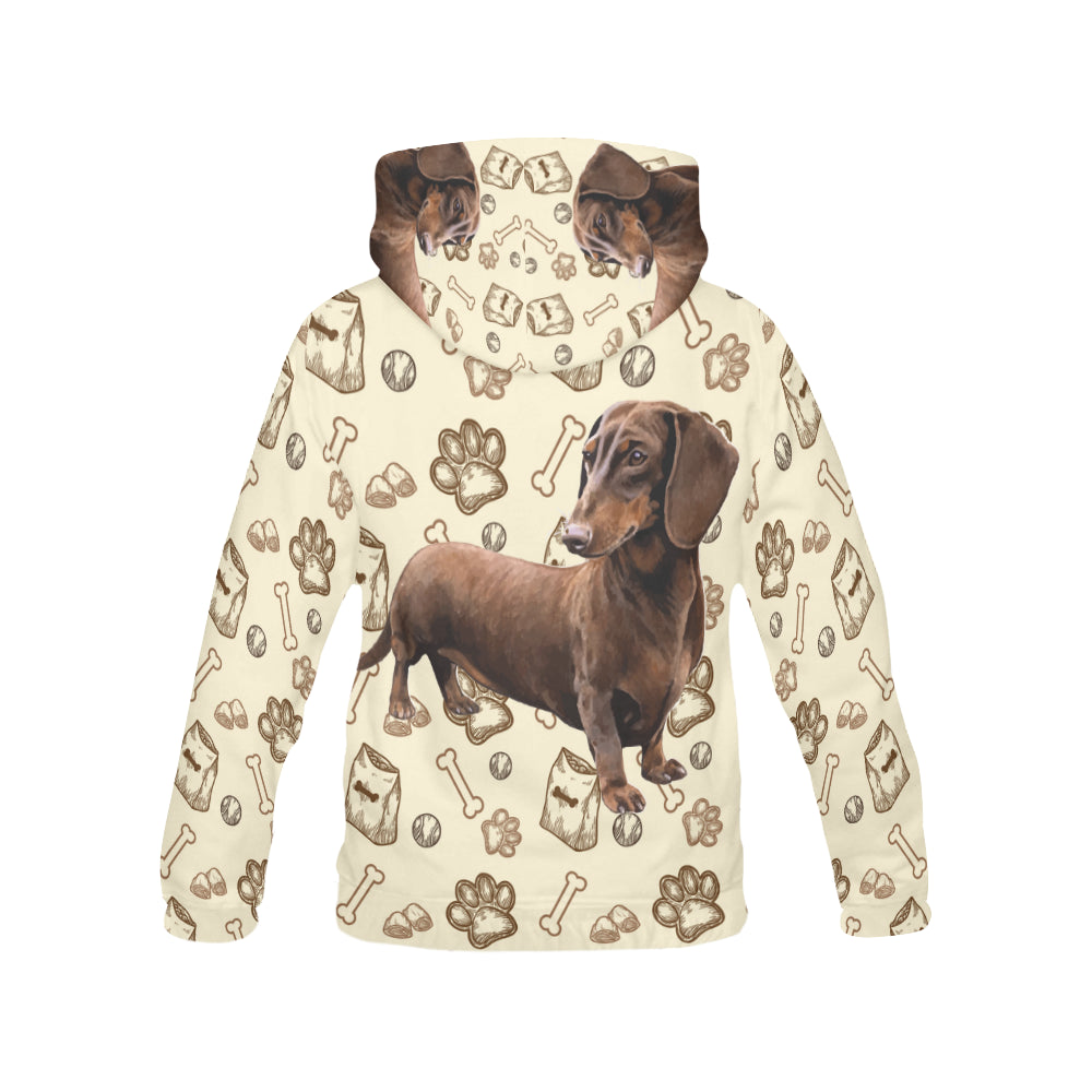 Dachshund V2 All Over Print Hoodie for Women - TeeAmazing
