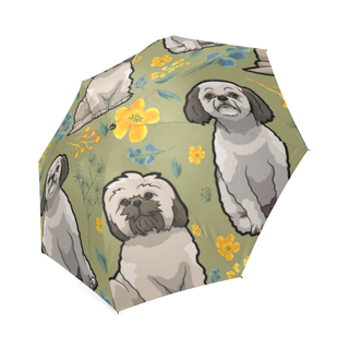 Shih Tzu Flower Foldable Umbrella - TeeAmazing