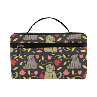 Tibetan Terrier Flower Cosmetic Bag/Large (Model 1658) - TeeAmazing