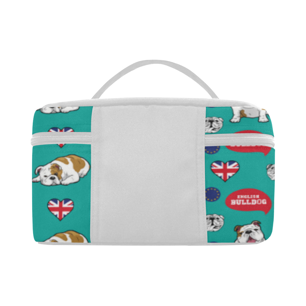 English Bulldog Cosmetic Bag/Large - TeeAmazing