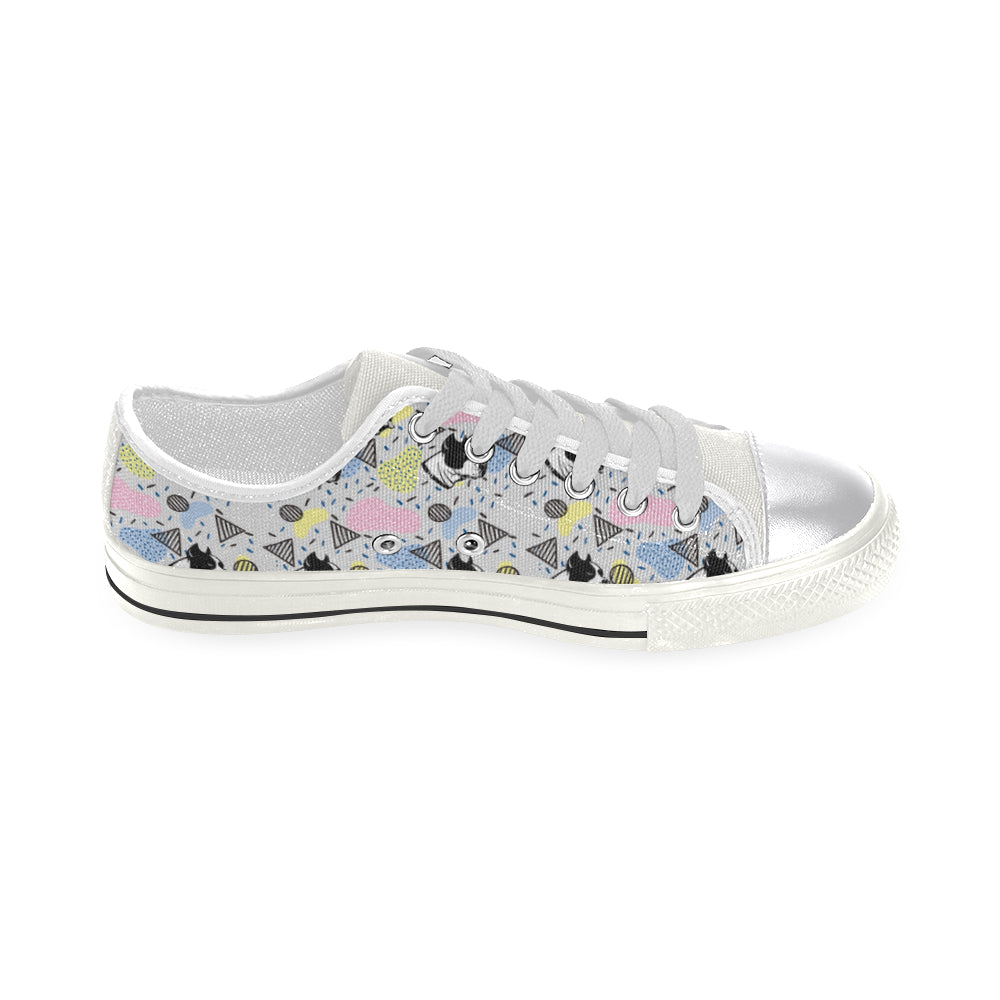 American Staffordshire Terrier Pattern White Women's Classic Canvas Shoes - TeeAmazing