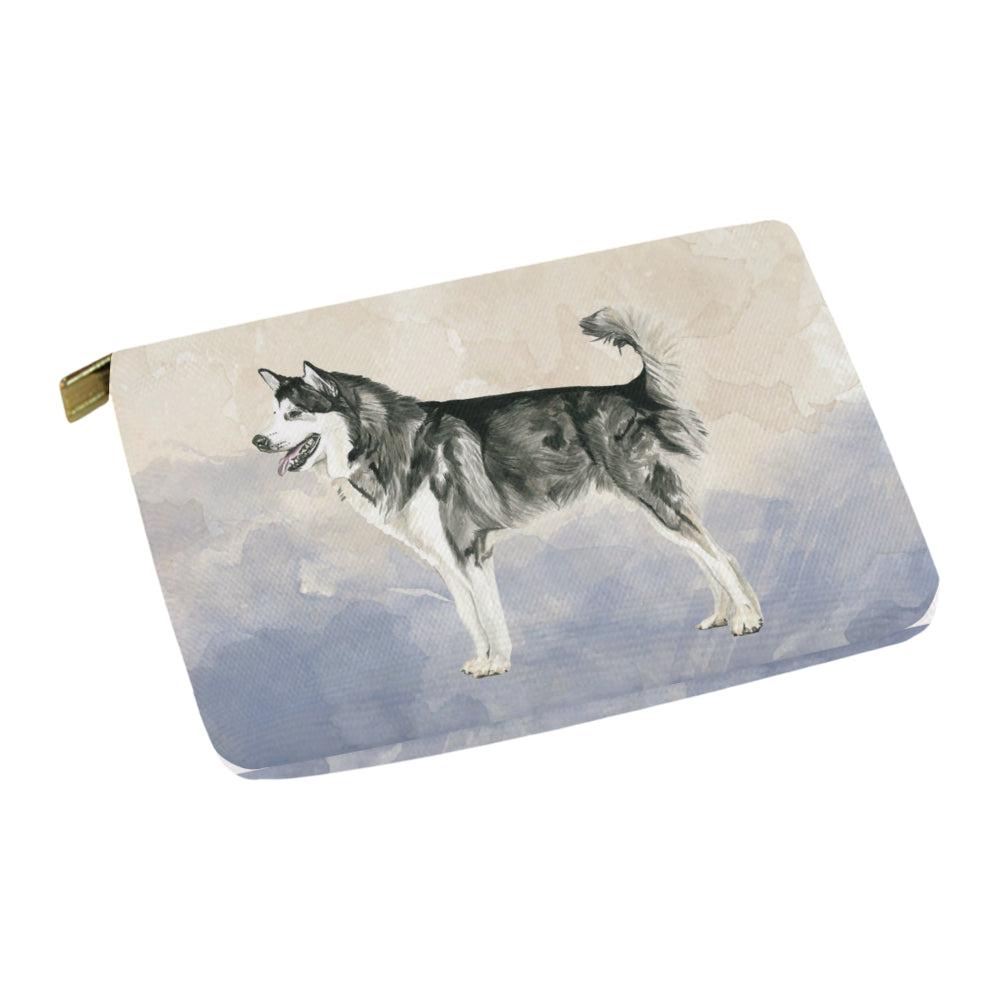Alaskan Malamute Water Colour Carry-All Pouch 12.5x8.5 - TeeAmazing