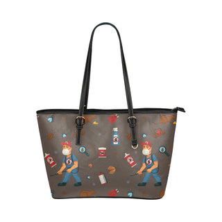 Exterminator Pattern Leather Tote Bag/Small - TeeAmazing
