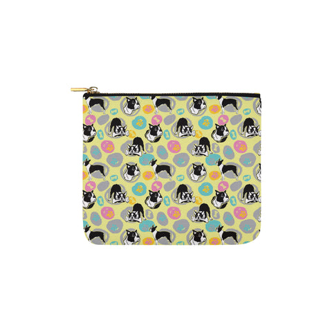 Boston Terrier Pattern Carry-All Pouch 6x5 - TeeAmazing