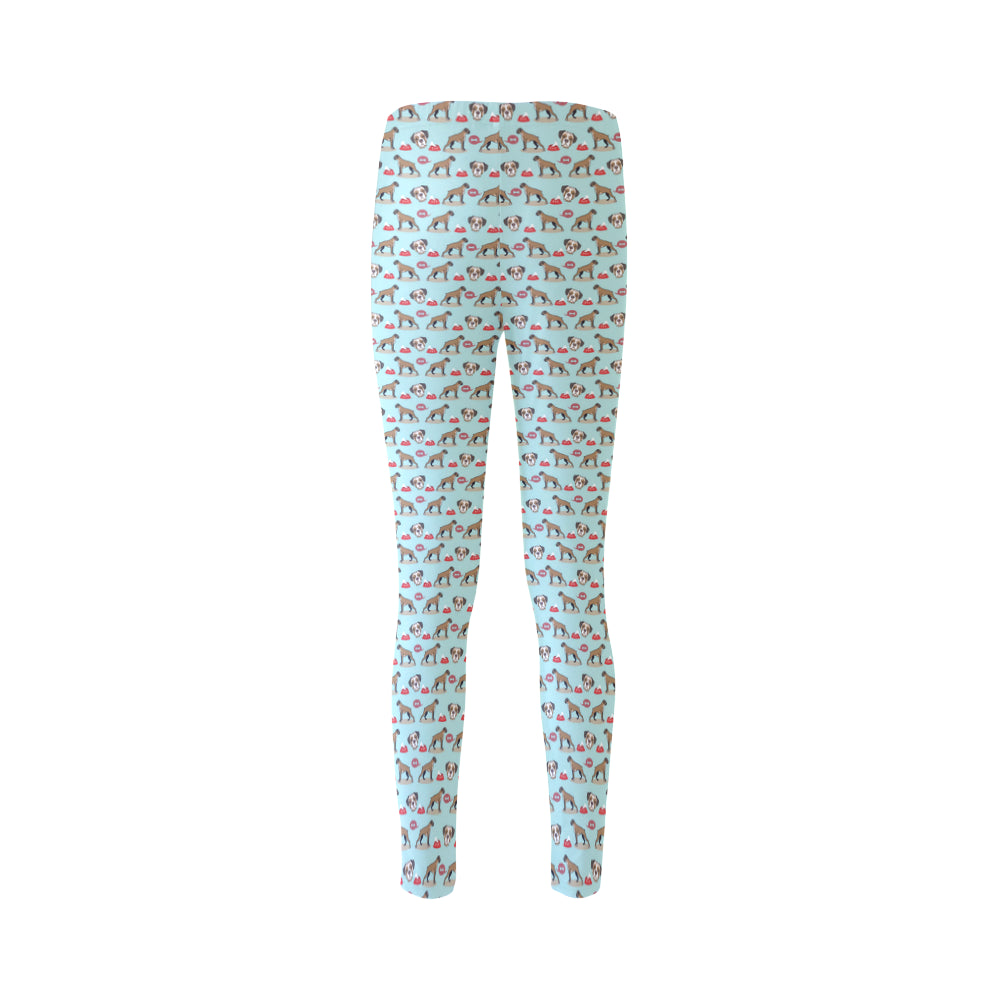 Boxer Pattern Cassandra Women's Leggings - TeeAmazing