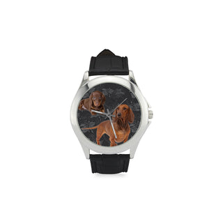 Dachshund Lover Women's Classic Leather Strap Watch - TeeAmazing