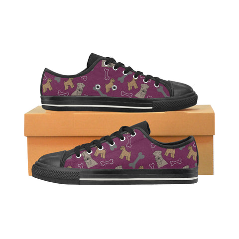 Soft Coated Wheaten Terrier Black Women's Classic Canvas Shoes (Model 018) - TeeAmazing