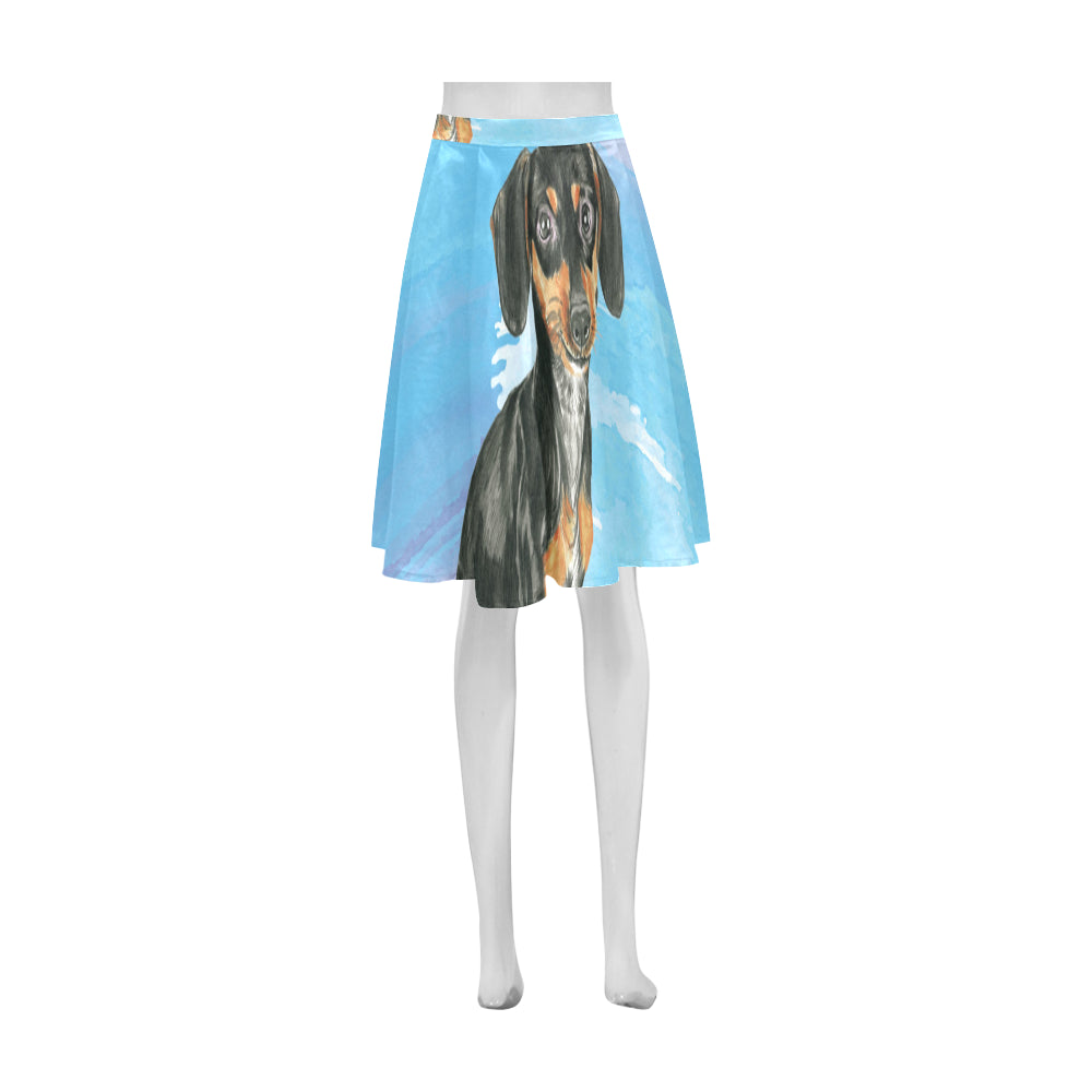Dachshund Water Colour No.1 Athena Women's Short Skirt - TeeAmazing