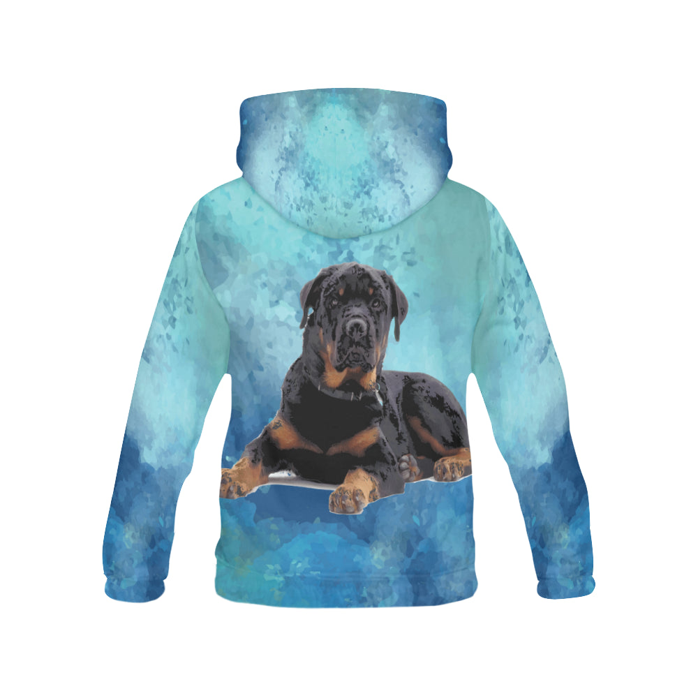 Rottweiler V2 All Over Print Hoodie for Women - TeeAmazing