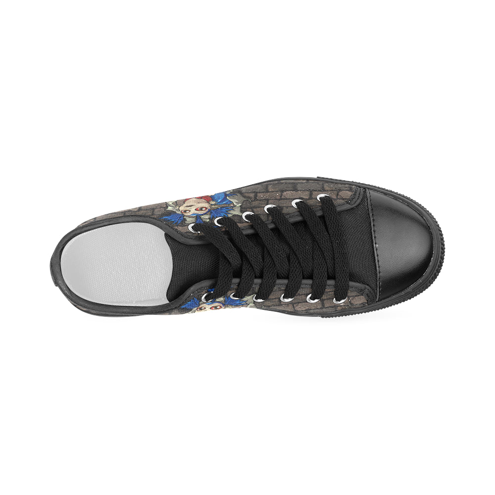 Hello Ello Black Women's Classic Canvas Shoes - TeeAmazing