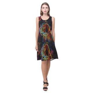 Beagle Glow Design 1 Sleeveless Splicing Shift Dress - TeeAmazing