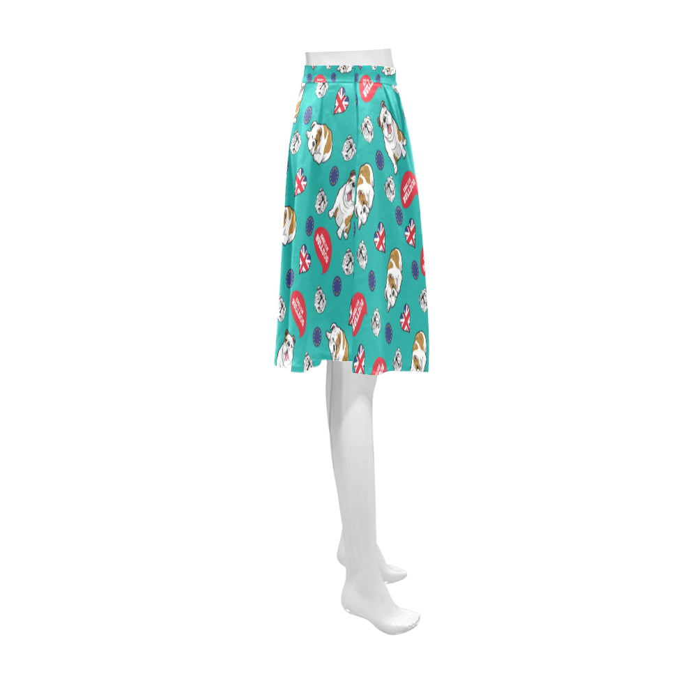 English Bulldog Athena Women's Short Skirt - TeeAmazing