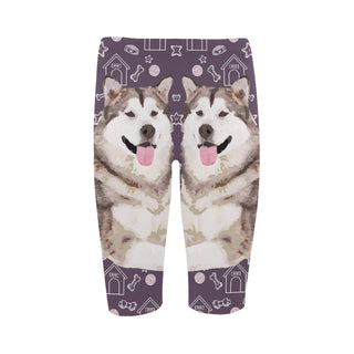 Alaskan Malamute Hestia Cropped Leggings (Model L03) - TeeAmazing