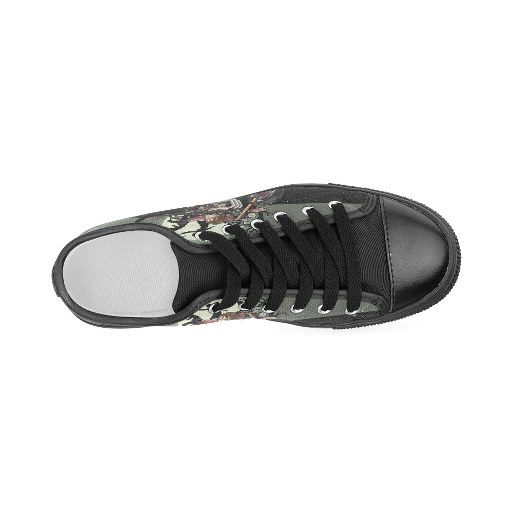797ac61df41269 ... Daryl Dixon Black Women s Classic Canvas Shoes - TeeAmazing ...