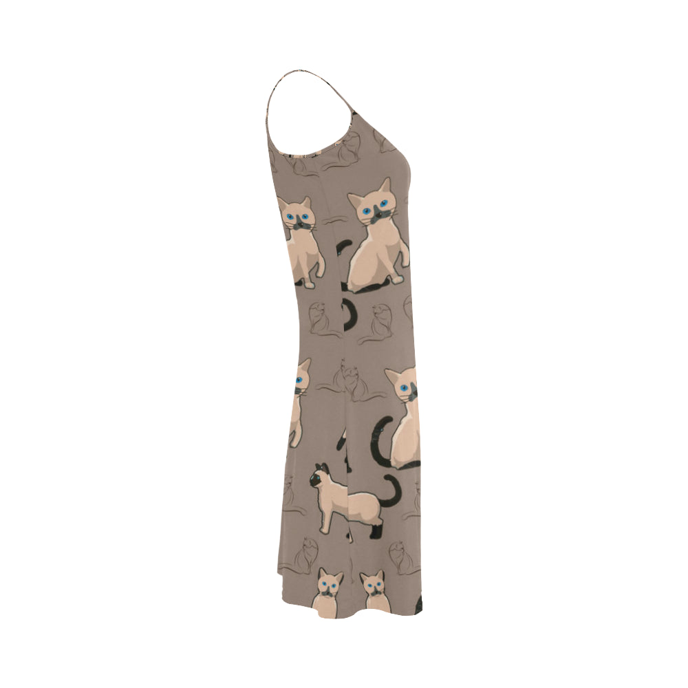 Tonkinese Cat Alcestis Slip Dress (Model D05) - TeeAmazing
