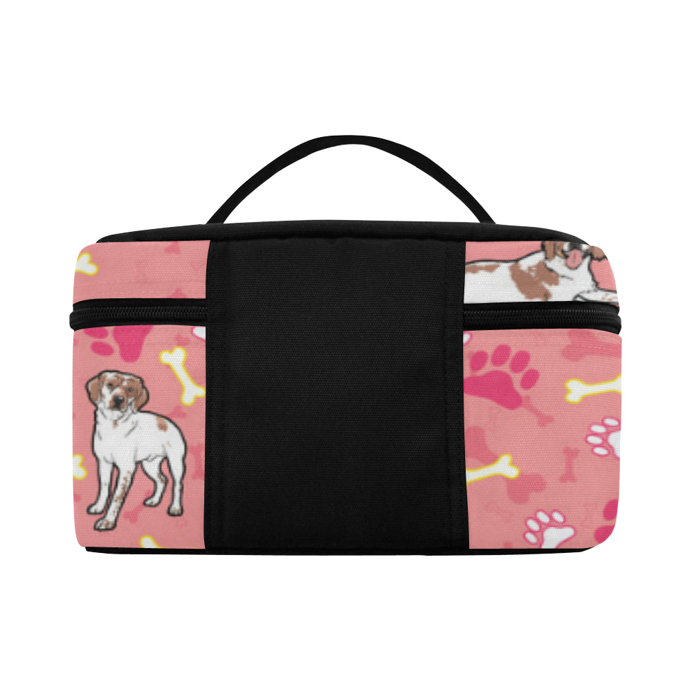Brittany Spaniel Pattern Cosmetic Bag/Large - TeeAmazing