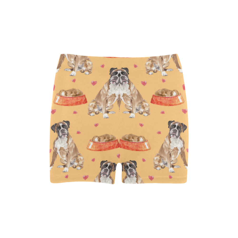 Boxer Water Colour Pattern No.1 Briseis Skinny Shorts - TeeAmazing