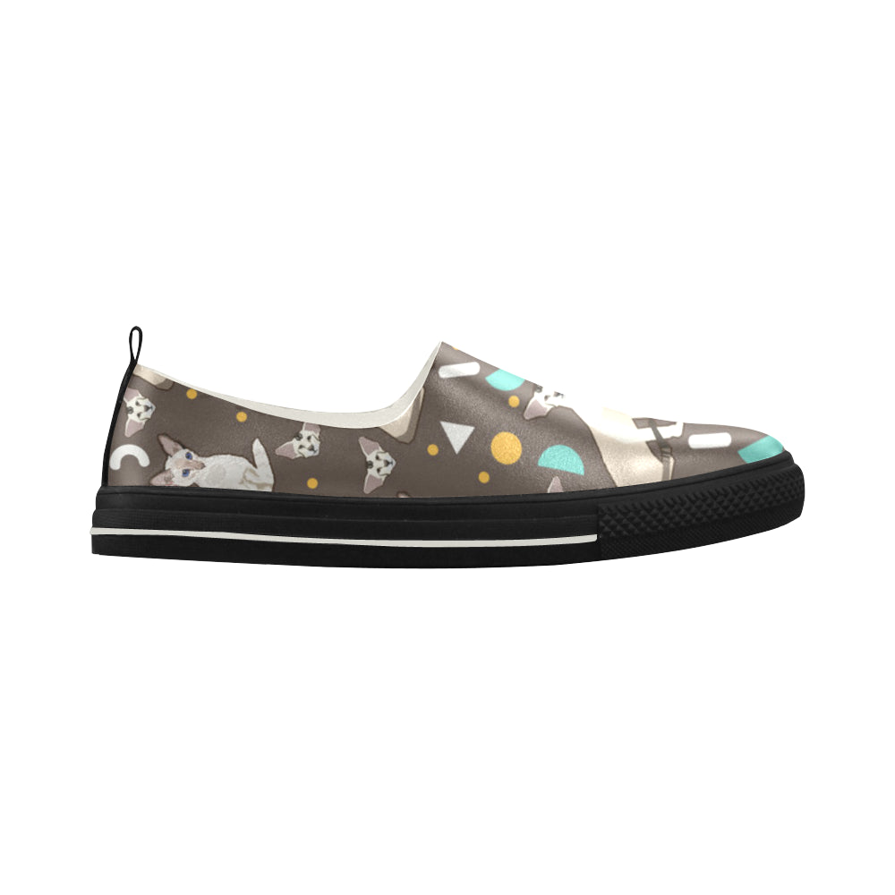 Oriental Shorthair Apus Slip-on Microfiber Women's Shoes - TeeAmazing