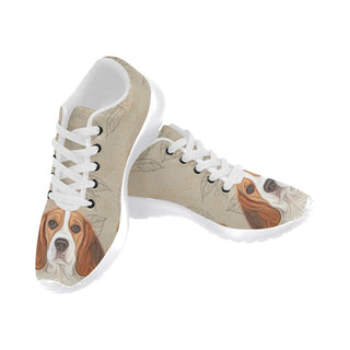 Beagle Lover White Sneakers Size 13-15 for Men - TeeAmazing