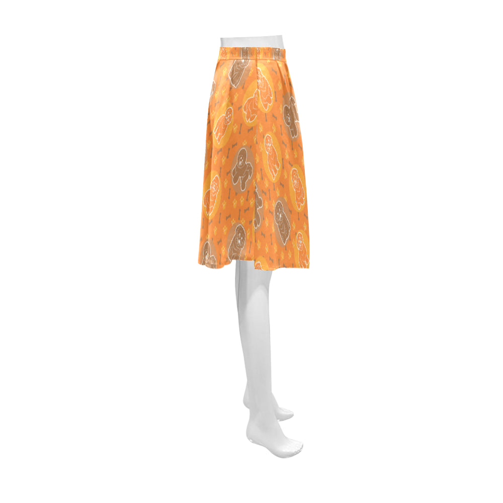 Bichon Frise Pattern Athena Women's Short Skirt - TeeAmazing