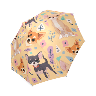 Chihuahua Flower Foldable Umbrella - TeeAmazing