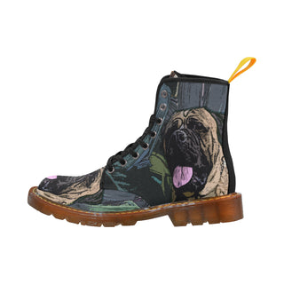 Bullmastiff Black Martin Boots For Men Model 1203H - TeeAmazing