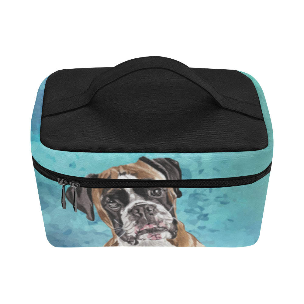 Boxer Water Colour Cosmetic Bag/Large - TeeAmazing