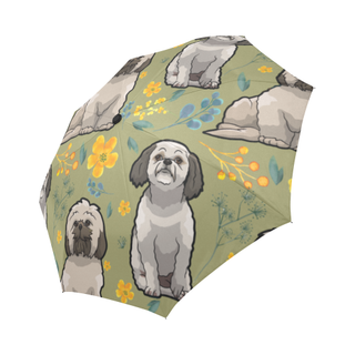 Shih Tzu Flower Auto-Foldable Umbrella - TeeAmazing
