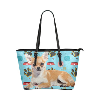 Chihuahua Leather Tote Bag/Small - TeeAmazing