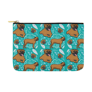 Bullmastiff Flower Carry-All Pouch 12.5''x8.5'' - TeeAmazing