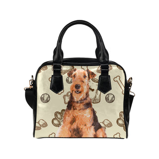 Airedale Terrier Shoulder Handbag - TeeAmazing