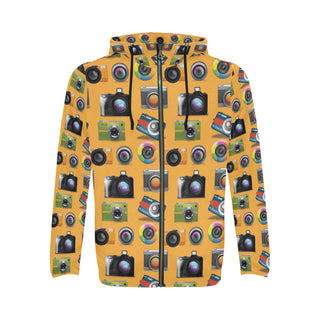 Photographer Pattern All Over Print Full Zip Hoodie for Men (Model H14) - TeeAmazing