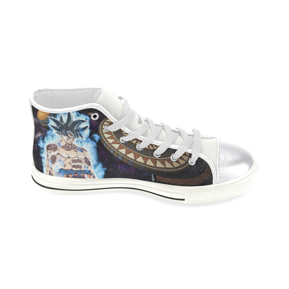 ... Goku Limit Breaker DBZ White Women s Classic High Top Canvas Shoes -  TeeAmazing ... b69e895fb