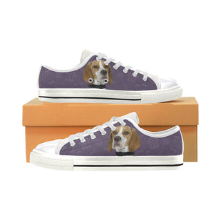 English Pointer Dog White Women's Classic Canvas Shoes (Model 018) - TeeAmazing