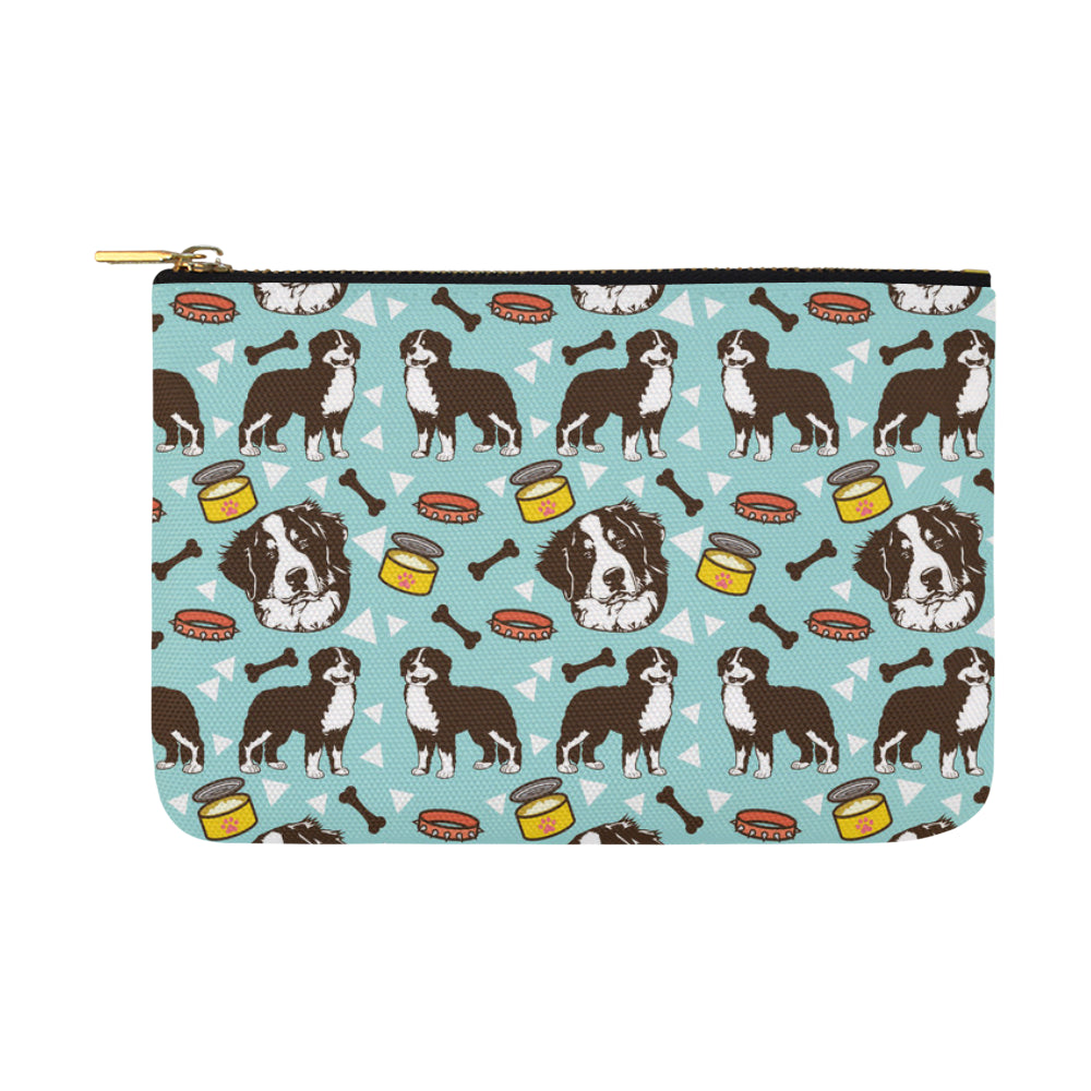 Bernese Mountain Pattern Carry-All Pouch 12.5x8.5 - TeeAmazing