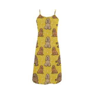 Cocker Spaniel Alcestis Slip Dress - TeeAmazing