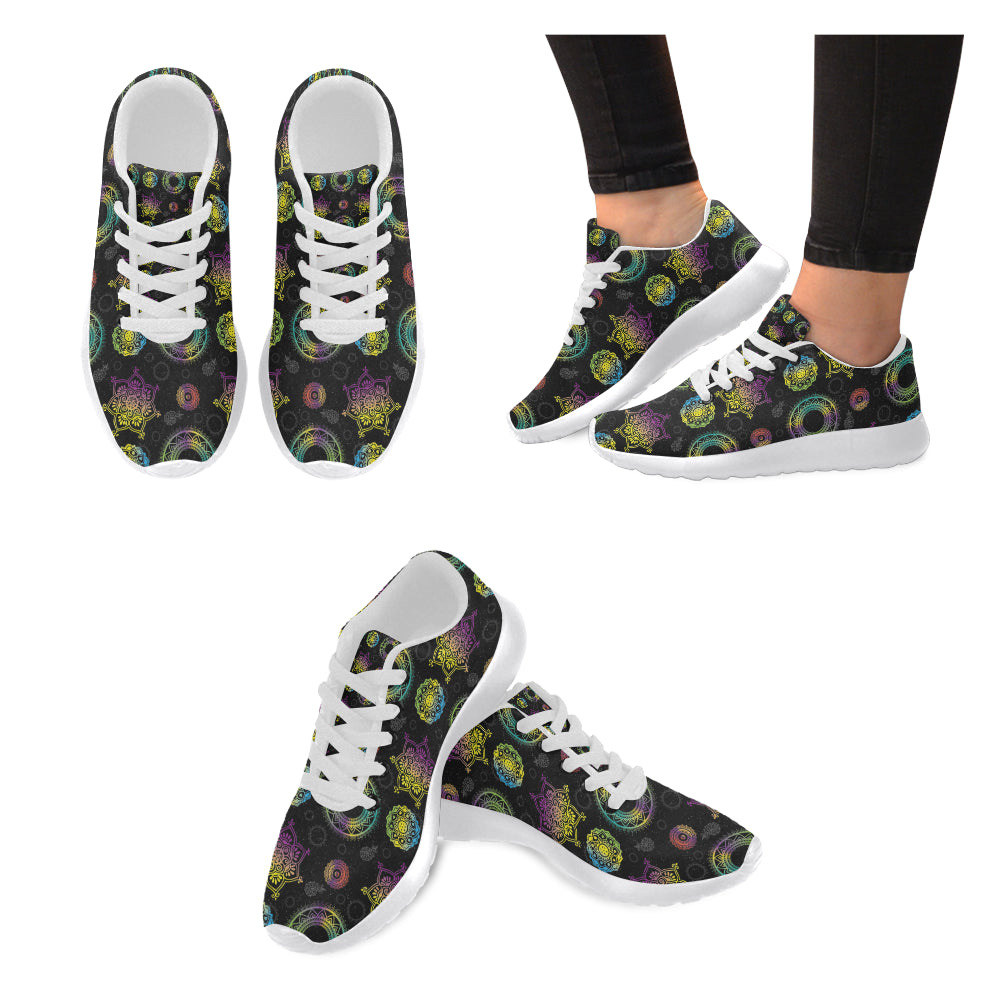 Chakra White Sneakers for Women - TeeAmazing
