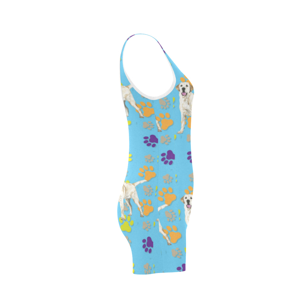 Labrador Retriever Water Colour Pattern No.1 Classic One Piece Swimwear - TeeAmazing