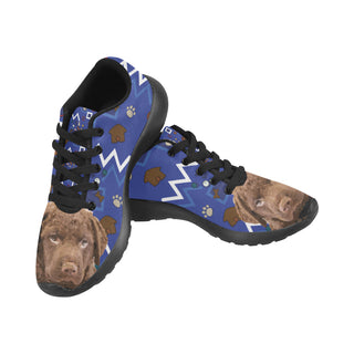 Chesapeake Bay Retriever Dog Black Sneakers Size 13-15 for Men - TeeAmazing
