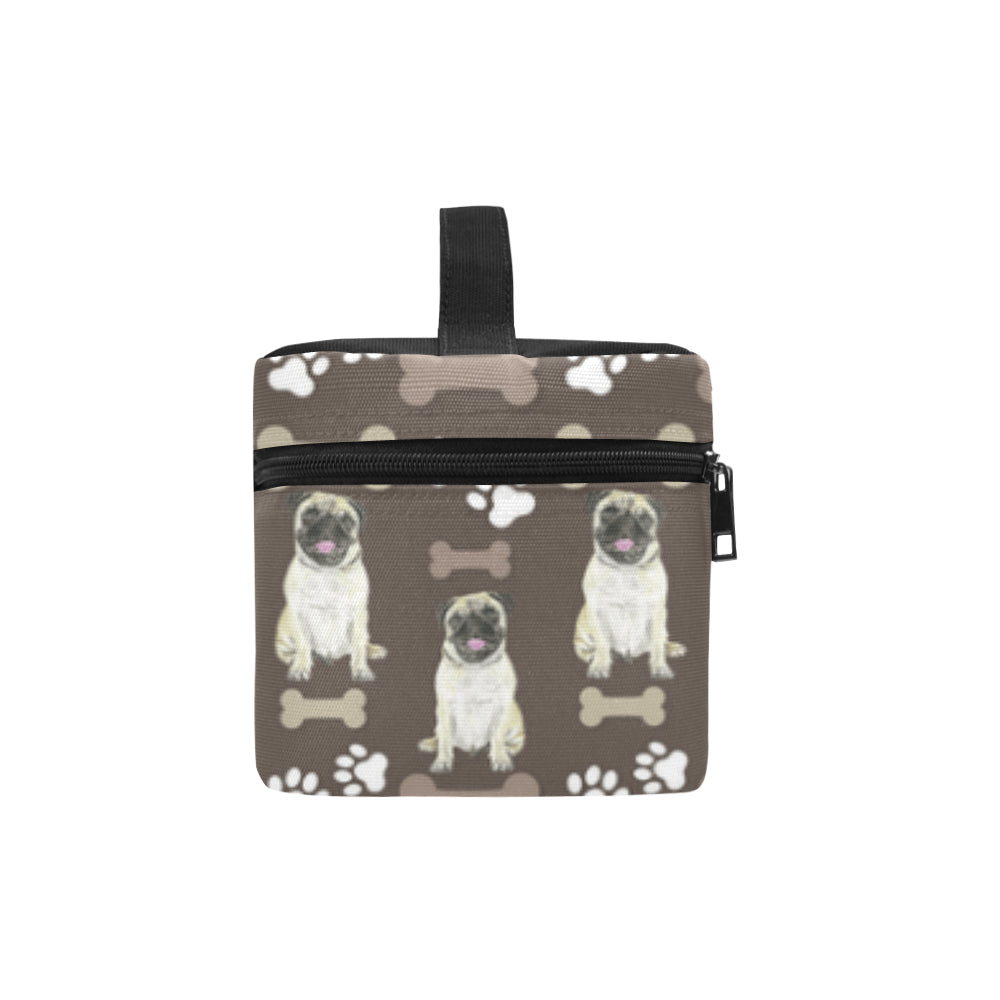 Pug Water Colour Pattern No.1 Cosmetic Bag/Large - TeeAmazing