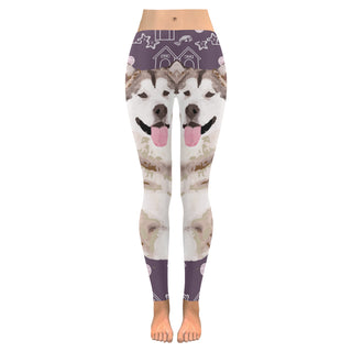 Alaskan Malamute Low Rise Leggings (Model L05) - TeeAmazing