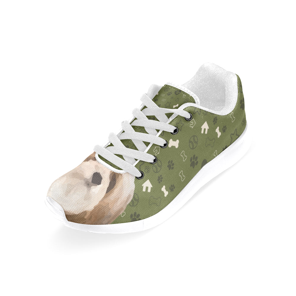 Lhasa Apso Dog White Sneakers Size 13-15 for Men - TeeAmazing