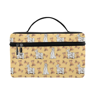 Afghan Hound Pattern Cosmetic Bag/Large - TeeAmazing