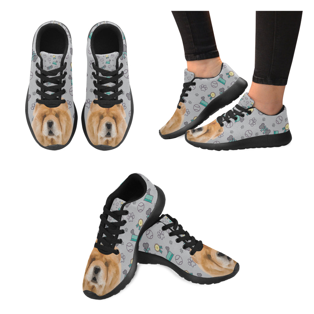 Chow Chow Dog Black Sneakers for Women - TeeAmazing