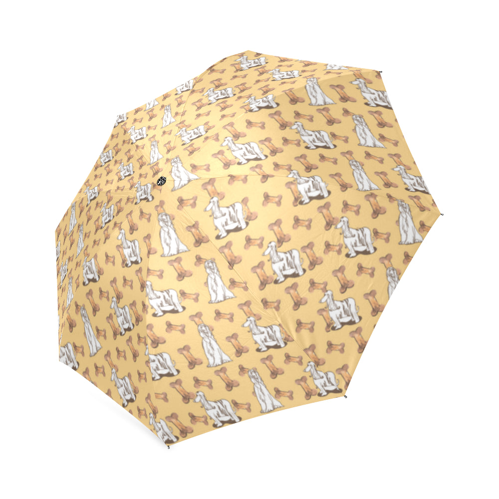Afghan Hound Pattern Foldable Umbrella - TeeAmazing