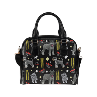 Miniature Schnauzer Flower Shoulder Handbag - TeeAmazing