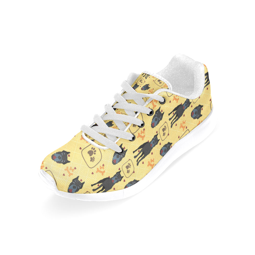 Cane Corso Pattern White Sneakers for Men - TeeAmazing