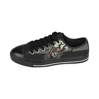 Daryl Dixon Black Low Top Canvas Shoes for Kid - TeeAmazing